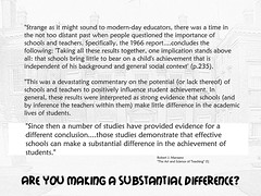 Educational Postcard: Are you making a substantial difference?