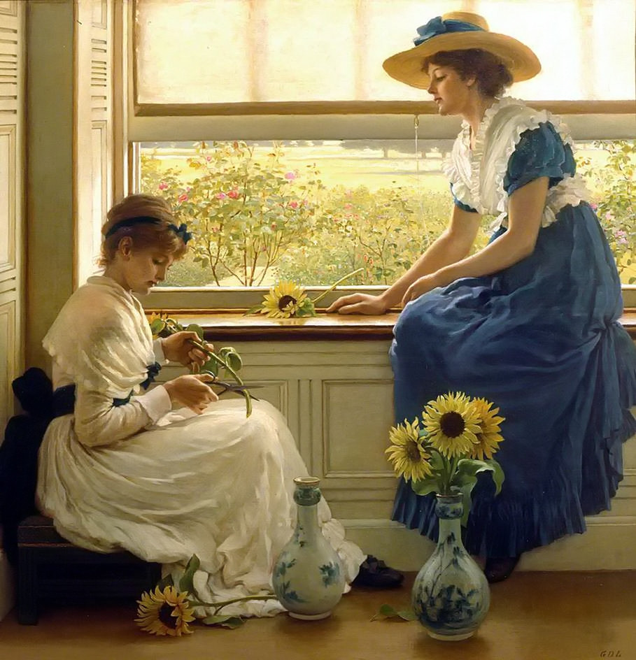 Sun and Moon Flowers by George Dunlop Leslie, 1889