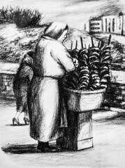 Woman with Pretzels