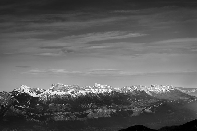 Chartreuse Mountains from Chamrousse, Feb. 14, 2017