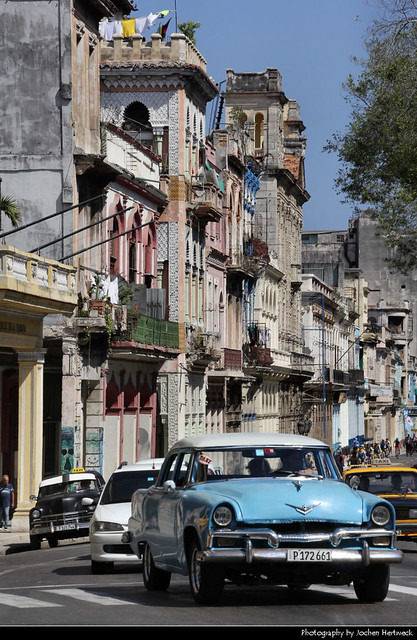 View along Paseo de Martí, Havana, Cuba