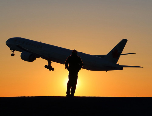 boeing 777 canon sunset shadow yul 80d exterior silhouette plane avion aircanada