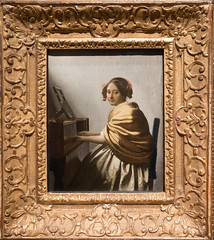 Johannes Vermeer, Young Woman Seated at a Virginal, c. 1670-1672