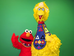 Elmo and Big Bird