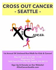 Help spread awareness of childhood cancer and give high school students the opportunity to impact their community by participating in the 1st annual Cross Out Cancer 5K run/walk on May 6 at Magnuson Park! Completely led by local high school students, the