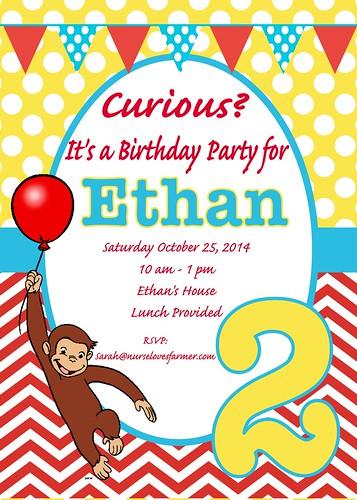 Ethan's Birthday Invitation
