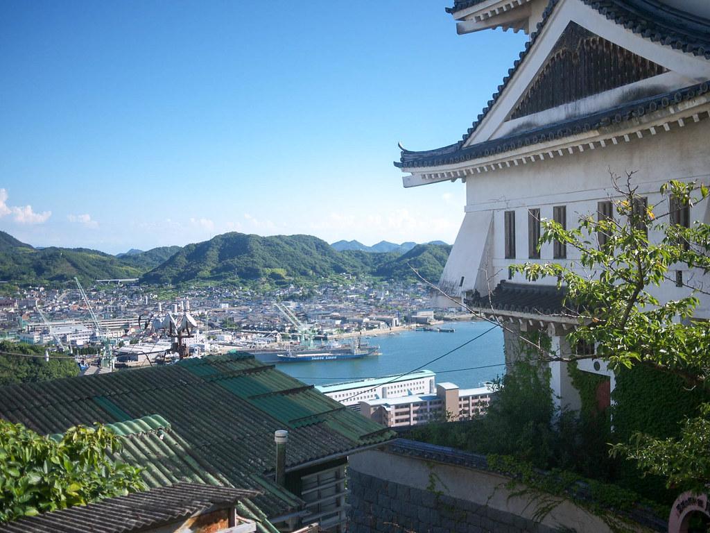 尾道城に到着