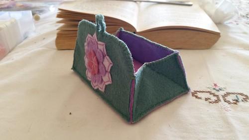 flower felt purse coinpurse feltflower feltpurse