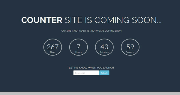 Free bootstrap coming soon template with countdwon