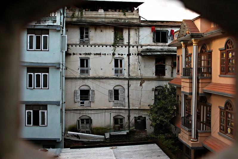 Kathmandu through a crack