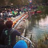 Pumpkins lined up for the sail at Harlem Meer today!