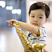 in Taiwan Taichung . 台灣台中后里張連昌薩克斯風紀念館  my son Rainy 23 month 阿鴻一歲11個月 DSC_5795