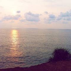 Sunset on Varkala beach clifftop