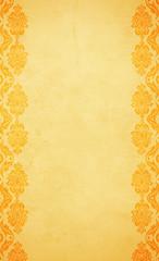 brown(0.0), tablecloth(0.0), circle(0.0), flooring(0.0), art(1.0), orange(1.0), pattern(1.0), yellow(1.0), design(1.0), wallpaper(1.0), gold(1.0),