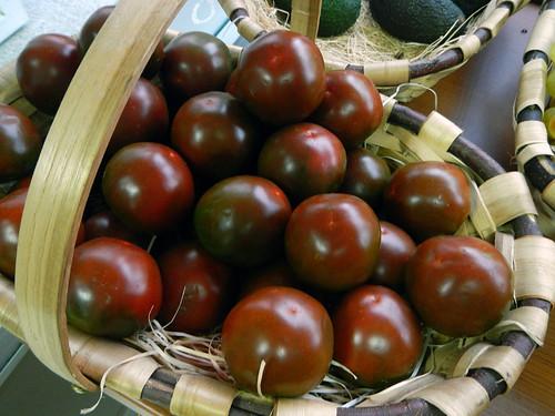 Brown Tomatoes in a Santiago de Compostela market