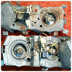#For#Sale#Used#Parts#Mercedes#Benz#OEM#alyehliparts#alyehli#UAE#AbuDhabi#AlFalah#City  FOR SALE MERCEDES BENZ OEM USED PARTS :  R107 AND W116 HEADLIGHTS ASSEMBLY LEFT AND RIGHT - USA VERSION  -BOTH WEIGHT : 4.90 Kgm  -NOTES : ONE OF THE EACH CHROME COVER
