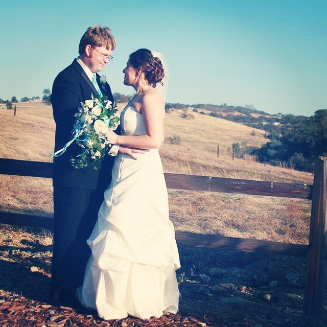 "#throwback to four years ago today when Joshua and I said, ""I do."" Today also marks 10 years we have been together. #throwbackthursday #tbt #anniversary #wedding #marriage"