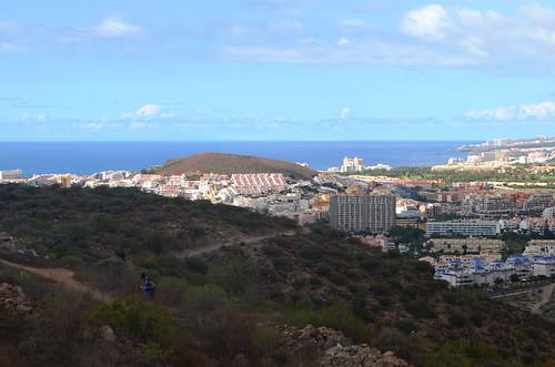 Noting directions, Los Cristianos from Montaña Guaza, Tenerife