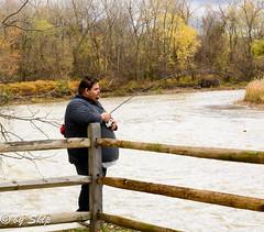 Fisherman at Chagrin River Park
