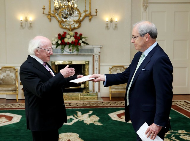 Ambassador O'Malley presents his credentials.