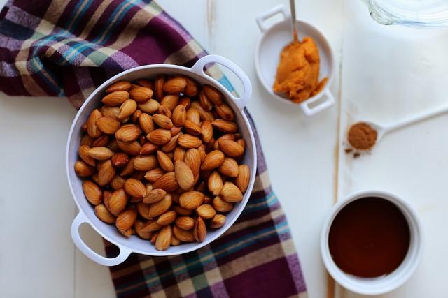 Maple Spiced Almond Milk with pumpkin