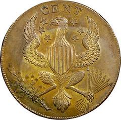 1792 Roman Head Cent reverse