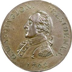 1792 CENT Getz Washington President Pattern Cent obverse