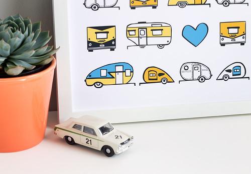 New: Vintage Trailer Caravan Art Print