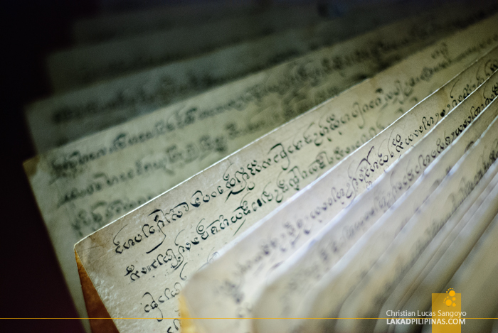 Ancient Writings at Lanna Folklife Museum in Chiang Mai