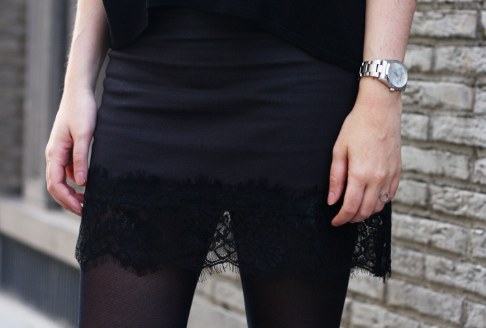 lace hem skirt zadig and voltaire watch