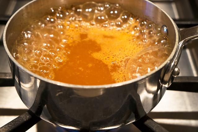 bubbling apple cider