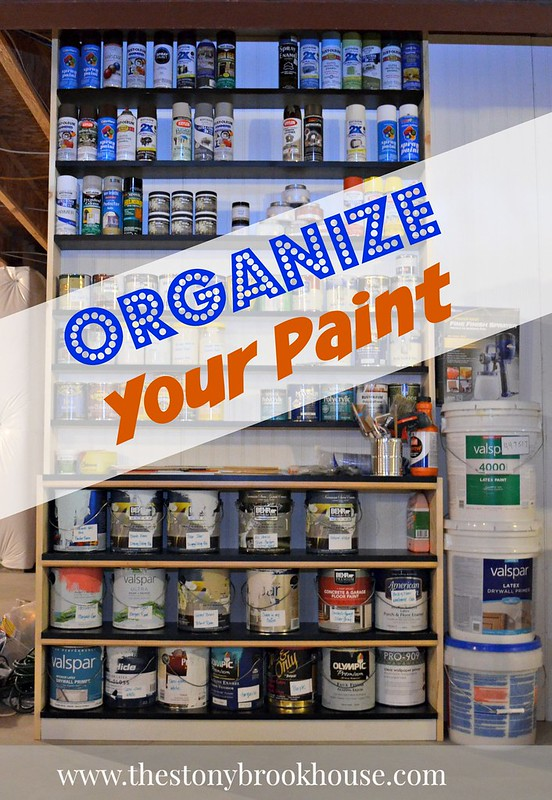 How To Organize Your Paint