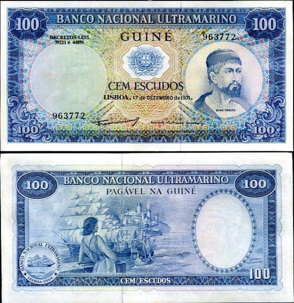 100 Escudos Portugalská Guinea 1971, Pick 45