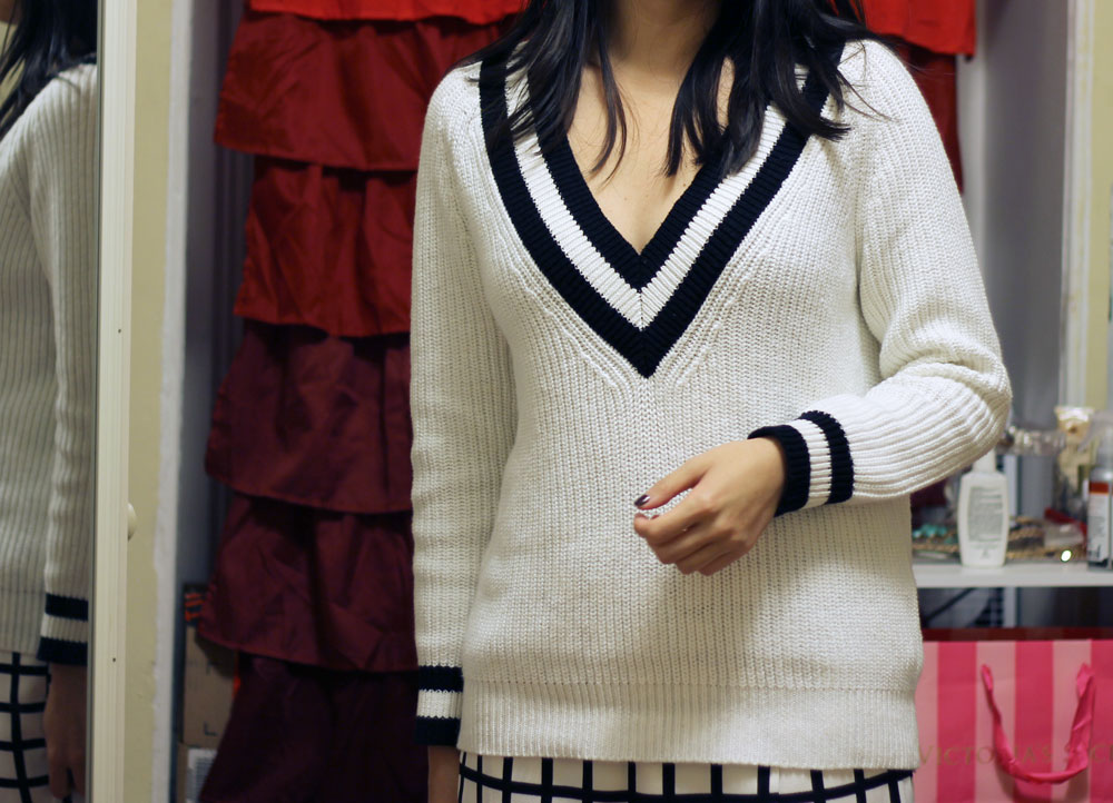 Forever21 dupe for Rag and Bone v neck varsity sweater