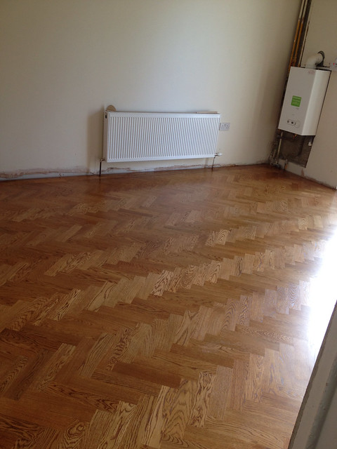 Back room - Completed Parquet Floor