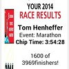 Holy crap I just got my official marathon chip time  and it was a full minute better than I thought! 3:54:28!