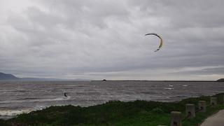 Kite surfer near Crescent City