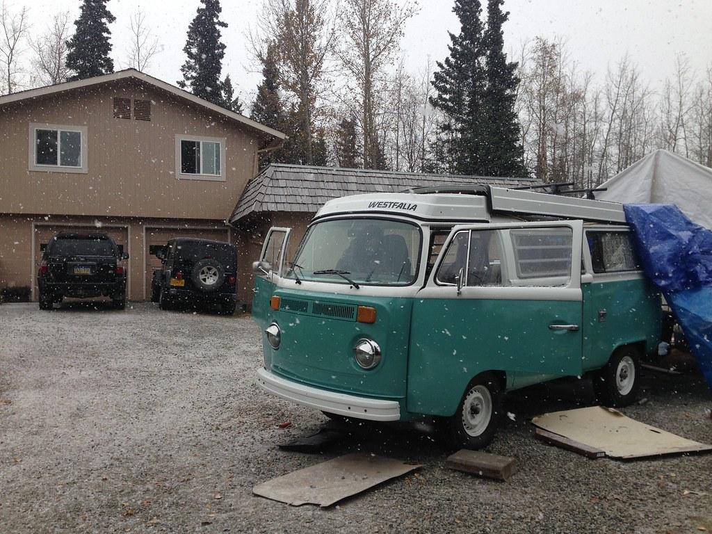 1975 VW Bus Westfalia, built for an Alaska to Argentina