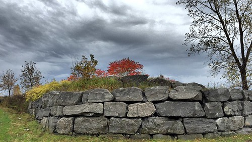 St-Michel's wall in fall