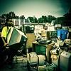 Washington County electronics recycling day.#ondragontime #southernillinois #smalltown #rural #nashvilleil #washingtoncountyil #recycling #electronics #televisions #CRT