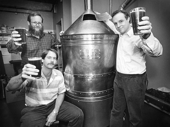 McMenamins' Brewer Ron Wolf with Mike and Brian McMenamin