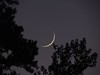 Thin Crescent Moon - October 25, 2014