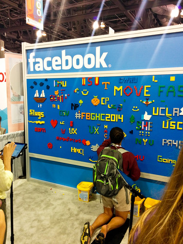 Facebook Booth at Grace Hopper Job Fair