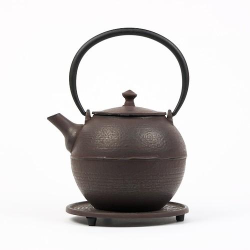 Théière Kyoto brune en fonte