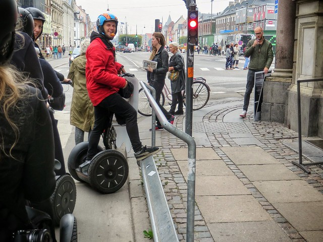A demo of the cycling footrest in Copenhagen