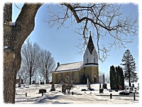Norwegian Lutheran Church and Cemetery near Wind Lake, Wisconsin