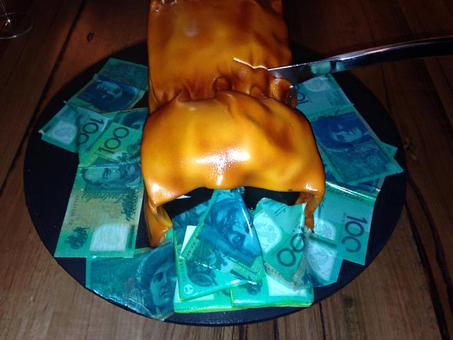Jeff McCloy's Moneybags cake