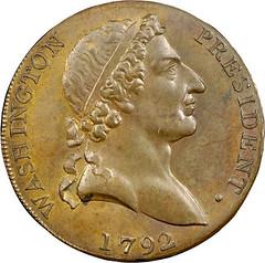 1792 Roman Head Cent obverse
