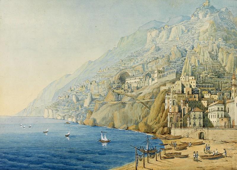 Felix Mendelssohn - Fine Landscape of the Amalfi Coast (1839)