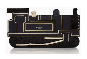 kate spade train clutch